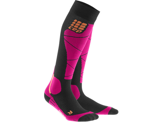 cep Merino Calcetines Mujer, black/pink